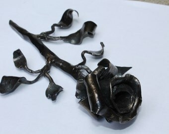 Rose forged from steel