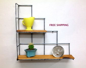 Awesome Corner Stair Step Shelf/Shelving//Shelves//Wire//Wood/