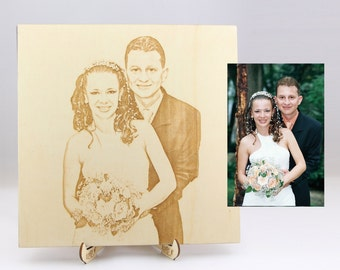 Personal Photo Wedding Album, Custom Wood Photo Album, Wooden Engraved Photo Album Alternative, Unique Wooden Photo Album, Wood Photo Album