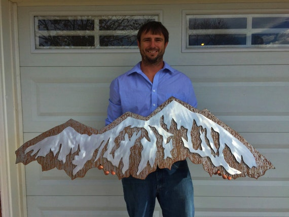Mountain Wall Art Metal Mountain Made From Aluminum And