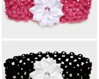 flower headband, girls headband, teen headband, adult headband women, toddler headband, flower girl headband, hair piece, stretch headband