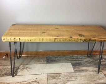 "Urban Loft Reclaimed Wood Console Table-Hair Pin Legs - 36""L x 11.5W x 18""H FAST SHIPPING"