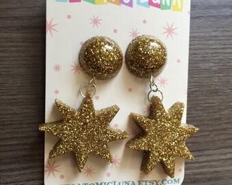 New Starbust Dangle Earrings!!