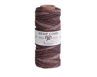 Earthy Variegated Hemp Cord Spool