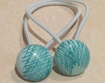 Hair bands/ties - Teal Scribble