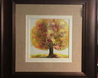 Mixed Media Art for Sale- Autumn Tree