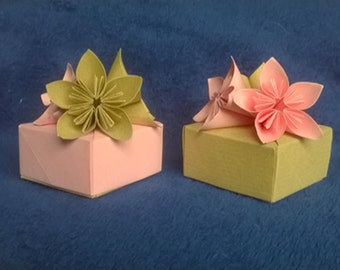 Origami favor boxes