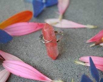 Erdbeerquarz Ring