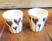 Two Heart Egg Cups