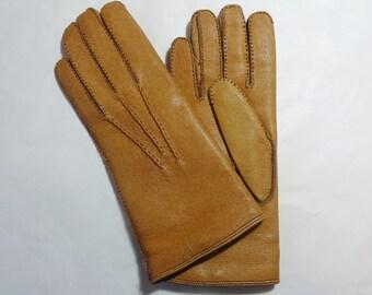Vintage Pigskin Women's Gloves with Detachable Wool Lining Size Medium [UK 7 ] Unworn