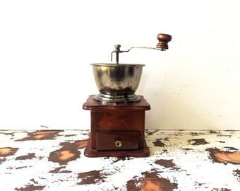 Vintage coffee grinder decor