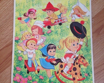 Vintage 1966 Whitman Little Kiddles Tray Puzzle