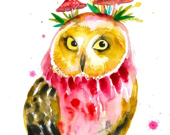 OWL dream 4. Art Print.