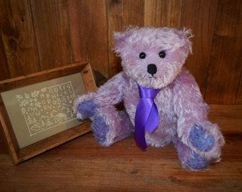 Sold.  (Please contact me if similar is required).  Fred the ted, OOAK plush mohair bear