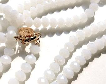 Super long White Quartz Necklace
