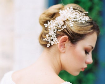 Wedding Headpiece,Bridal Headpiece,Wedding Hair Comb,Bridal Hair Comb,Wedding Accessories,Romantic Wedding Headpiece,Pearl Comb -ETTA COMB