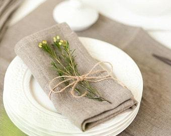 Aufgeweicht Leinenservietten Satz von 6 - rustikale Hochzeit Servietten - Servietten - grau Servietten - Bio Serviette Leinentuch