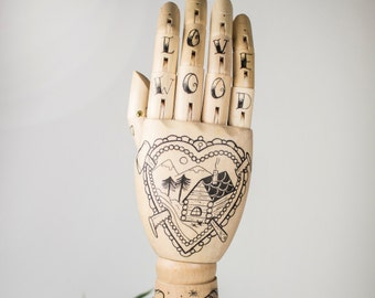 "Wooden Hand ""Love Wood"""