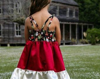 CUSTOM Strappy Bella dress,  2T - 12 girls