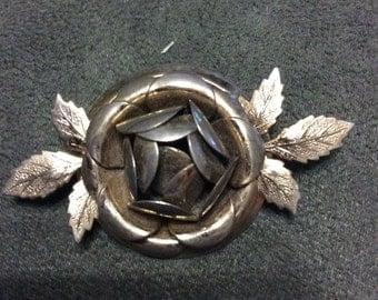 Silver Brooch Art Deco