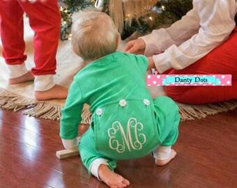 Drop Bottom Christmas Jammies   Christmas PJs   Christmas Pajamas   Green Pajamas   Drop Bottom Pajamas   Drop Bottom Christmas