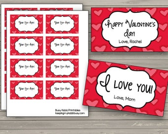50% OFF SALE Valentine's Day Notes {EDITABLE} Labels - Frames - Cards - Personalize - Custom