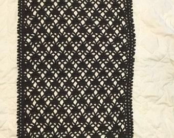 Grey Crocheted Shawl