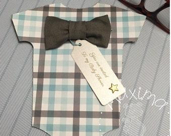 Baby Onesie, Baby Shower, Set of 10 Baby Invitations