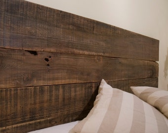 Double/Queen Headboard: Rustic Industrial Reclaimed Wood (Free Shipping)