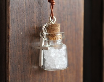Hyaline Quartz necklace at CHRISTIANITY and Christian cross