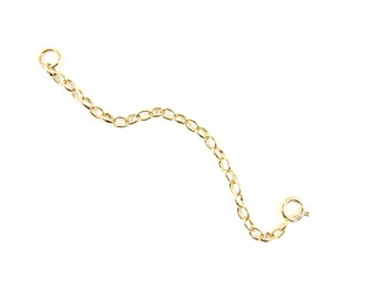 Extender Chain. Necklace Extender. Gold filled, Rose Gold or Sterling Silver Chain Extender.