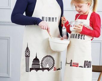 Personalised London apron set