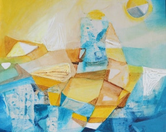 Original Abstract Painting: At the Sea 1 and 2