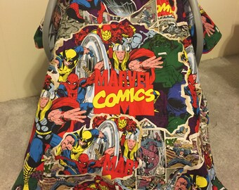 Marvel Comics Car Seat Canopy