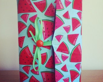 Adjustable paperback book cover - watermelons
