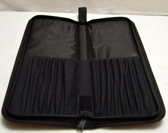 Black Knitting Needle Case Holds 7 pairs of Straight Needles
