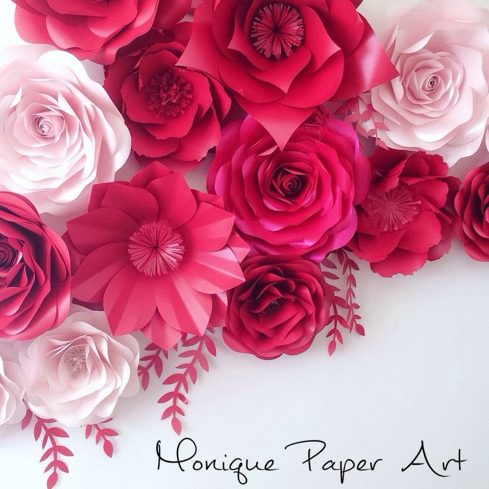 Shades Of Pink Large Paper Flowers Wedding Floral