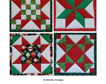 Pieced stars PDF quilt block pattern; quick pieced mix and match ... : christmas star quilt block - Adamdwight.com