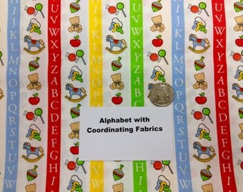 Alphabet Fabric - 1 and 3/4 Yards