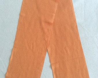 Vintage Kimono Han-Eri Collar, Light Orange