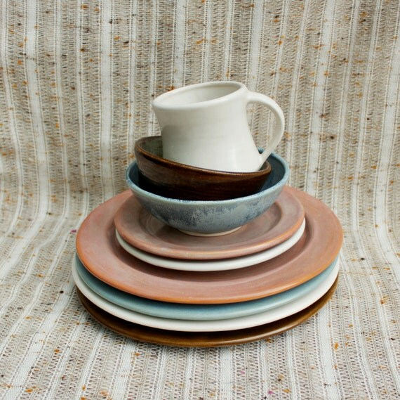 mix and match plates bowls or mugs individual dinnerware. Black Bedroom Furniture Sets. Home Design Ideas