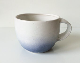 Blue Ombre Ceramic Mug
