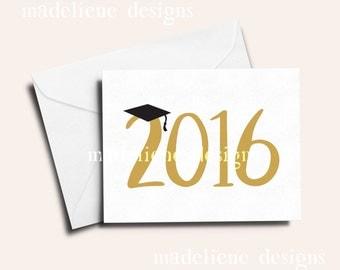 2016 Graduation Card - Grad, Congrats Grad, Congratulations, Graduate, 2016, Graduation Year
