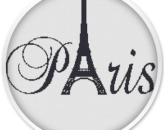 Paris cross stitch, IINSTANT DOWNLOAD, Free shipping, Cross Stitch PDF, Cross stitch pattern, Kiss .#063