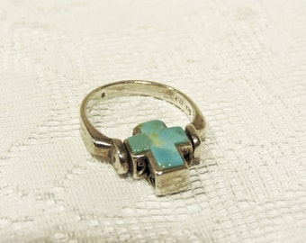 Sterling Silver Reversible Turquoise Ring