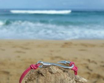 Silver Fishhook adjustable Bracelet.