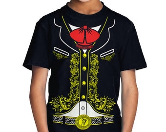 Mariachi Charro Toddler Kids Mexican Halloween Costume T-Shirt