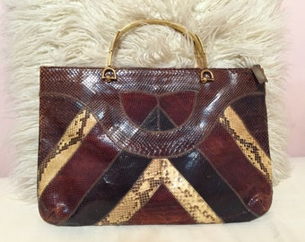Vintage snakeskin purse