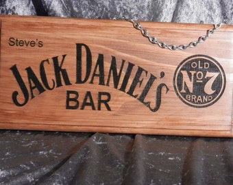 Jack Daniels Bar Sign - Personalised