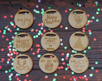 Set of 3 wooden gift tags